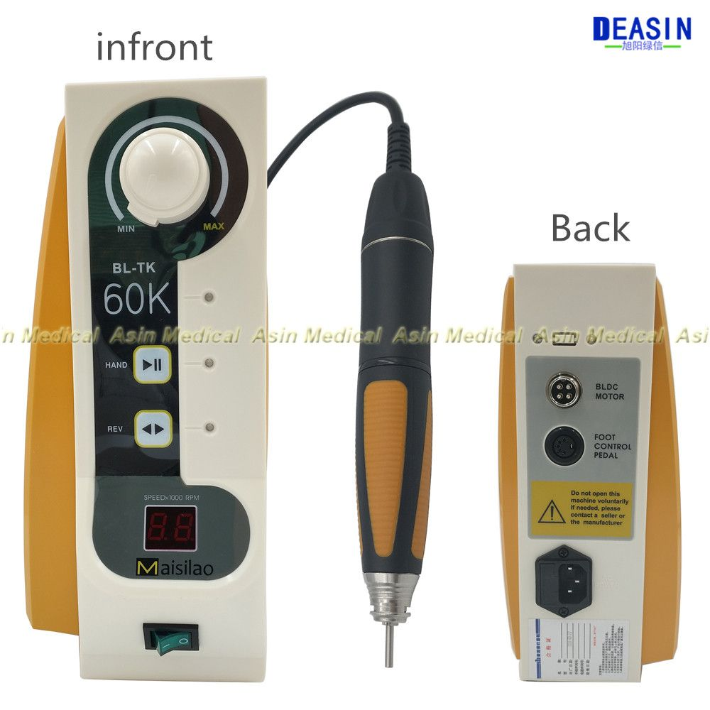 good quality 60,000 rpm Dental Micromotor Brushless Jewelry engraving micromotor with Handpiece speed control by hand 2018