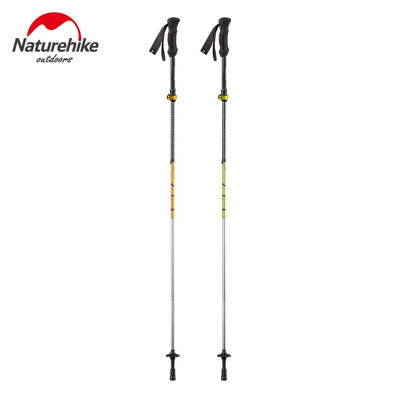 Naturehike Folding Adjustable Collapsible Ultra-light Outdoor Camping Hiking Climbing Trekking Pole Walking Stick EVA Handle