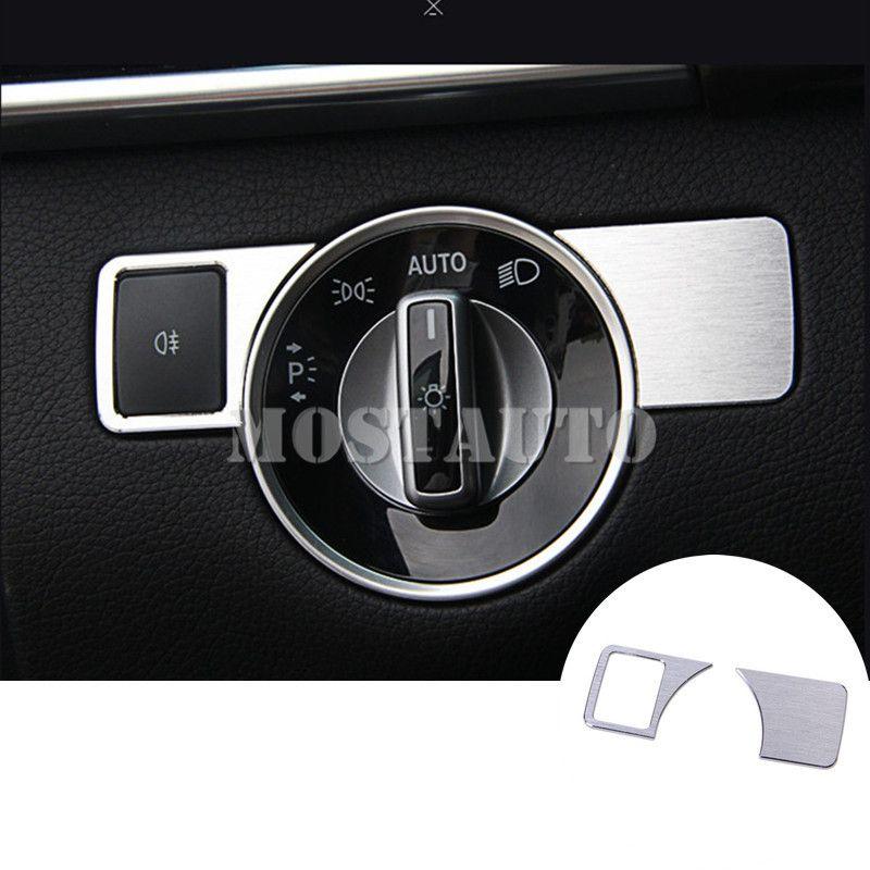 Für Benz E Klasse Coupe W207 C207 Inneren Scheinwerfer Schalter Taste Abdeckung 2009-2016 2 stücke