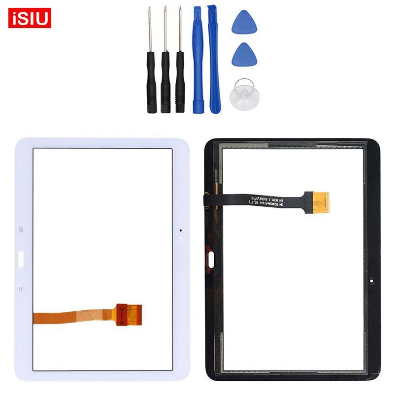 Nouveau 10.1 pouce Pour Samsung Galaxy Tab 4 T530/T531/T535/SM-T530 Tab4 LCD Écran Tactile Lentille En Verre Extra-Atmosphérique Avant Panneau + Outils