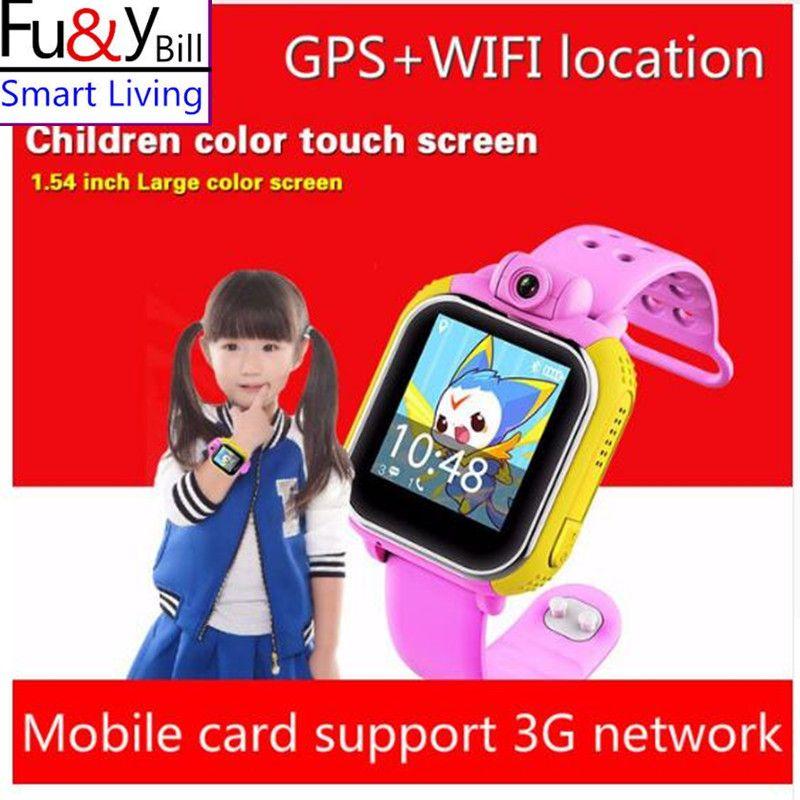 Fu et Y Bill Q730 3G Montre Smart Watch Enfants Montre-Bracelet Pour IOS Android Avec caméra GSM GPRS WI-FI GPS PK Q730 Q80 Q90 Q50 Q60 V7K
