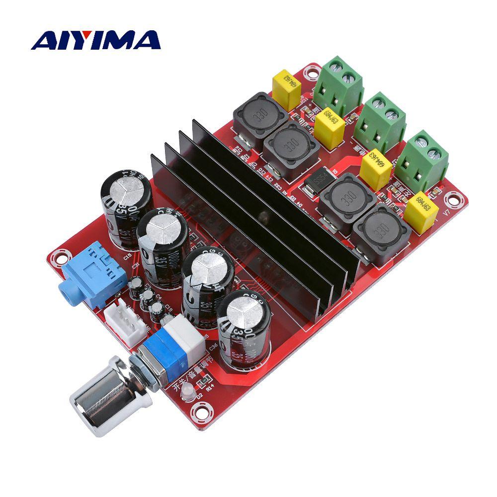 Carte d'amplificateurs numériques haute puissance TDA3116D2 carte d'amplificateur Audio à deux canaux 12-24 V 100Wx2