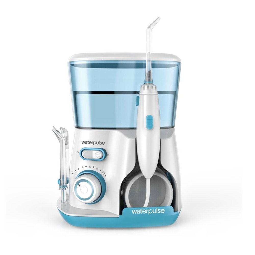 Waterpulse V300G 100-240V Oral Irrigator Water Jet Pick Dental Floss Teeth Flosser Hydro Set 800ML Capacity Tooth Cleaner