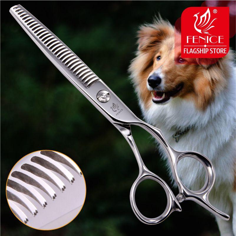 Fenice Professionnel Japon 440c 6.5 pouce pet chien toilettage ciseaux à effiler lame dentée cisailles éclaircie taux sur 35%