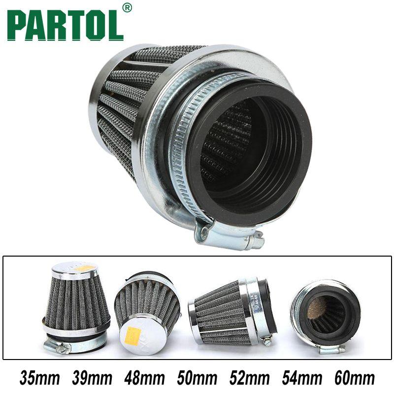 Partol 4PCS 35mm 39mm 48mm 50mm 52mm 54mm 60mm Motorcycle Air Filters Mushroom Head Cleaner Racing For Motorbike Toyoto Honda