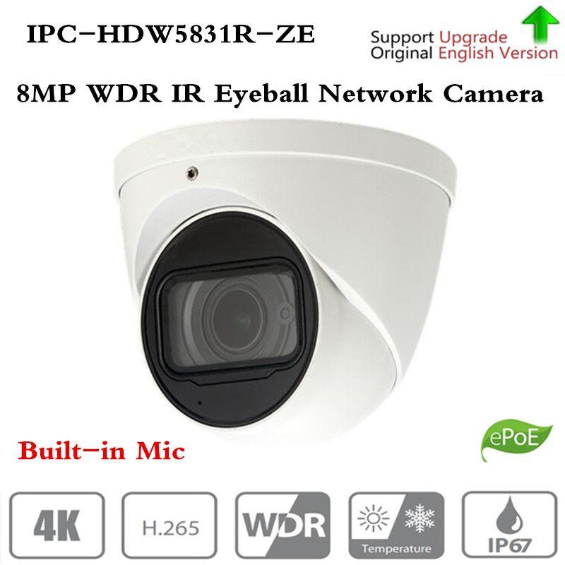 Original ahua Marke Sicherheit IP Kamera CCTV 8MP WDR IR Augapfel Netzwerk Kamera mit POE IP67 IK10 Ohne Logo IPC-HDW5831R-ZE