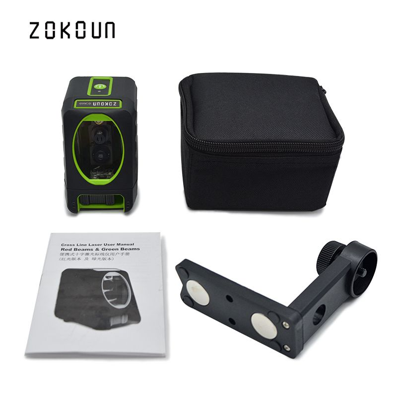 Zokoun fall protection rubber covered slash functional Mini 2 green beam Cross Lines self-leveling green beam line laser level