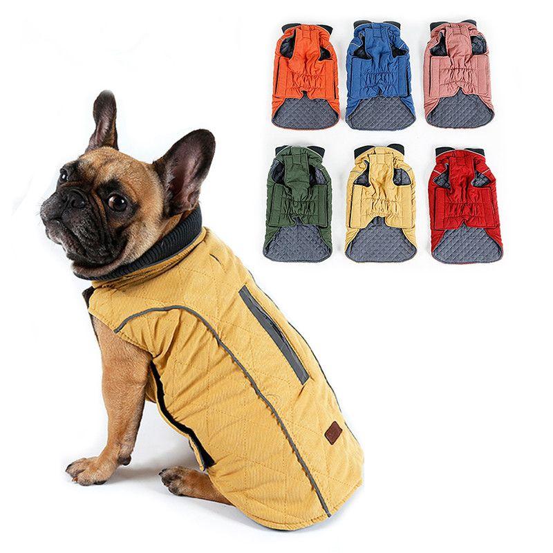 Hohe Qualität Hund Kleidung Gesteppte Hundemantel Wasserabweisend Winter Hund Pet Jacke Weste Retro Gemütlichen Warmen Pet Outfit Kleidung Große Hunde