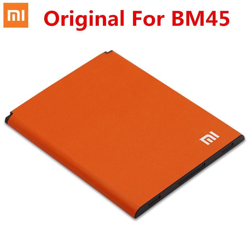 100% D'origine xiaomi bm45 batterie Pour Xiaomi Redmi Note 2 Téléphone Portable batterie BM45 3020 mAh Pour Xiaomi RedMi Note 2 Riz Rouge Hongmi