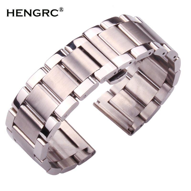 Bracelets de montre en métal hommes de haute qualité en acier inoxydable 18mm 20mm 21mm 22mm 23mm 24mm Bracelets de montre de mode femmes bracelet de montre