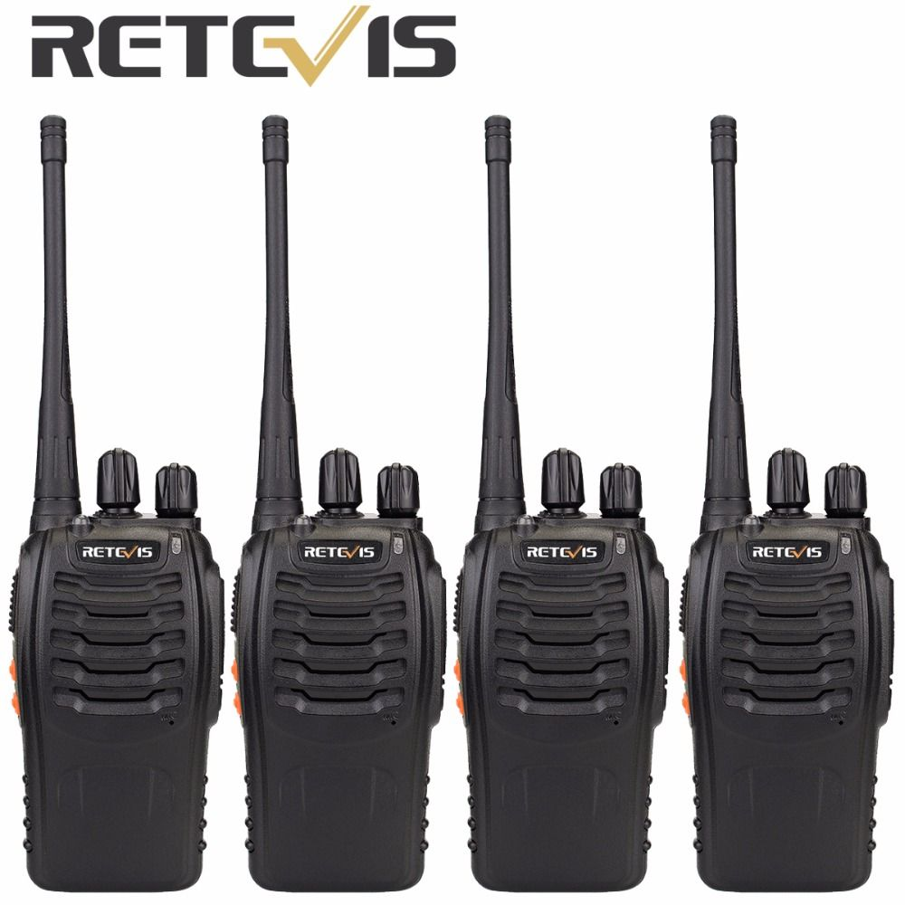 4pcs Retevis H777 Walkie Talkie Set 3W UHF 400-470MHz Handheld Hf Transceiver 2 Way cb Radio Portable Walkie-Talkie A9105A