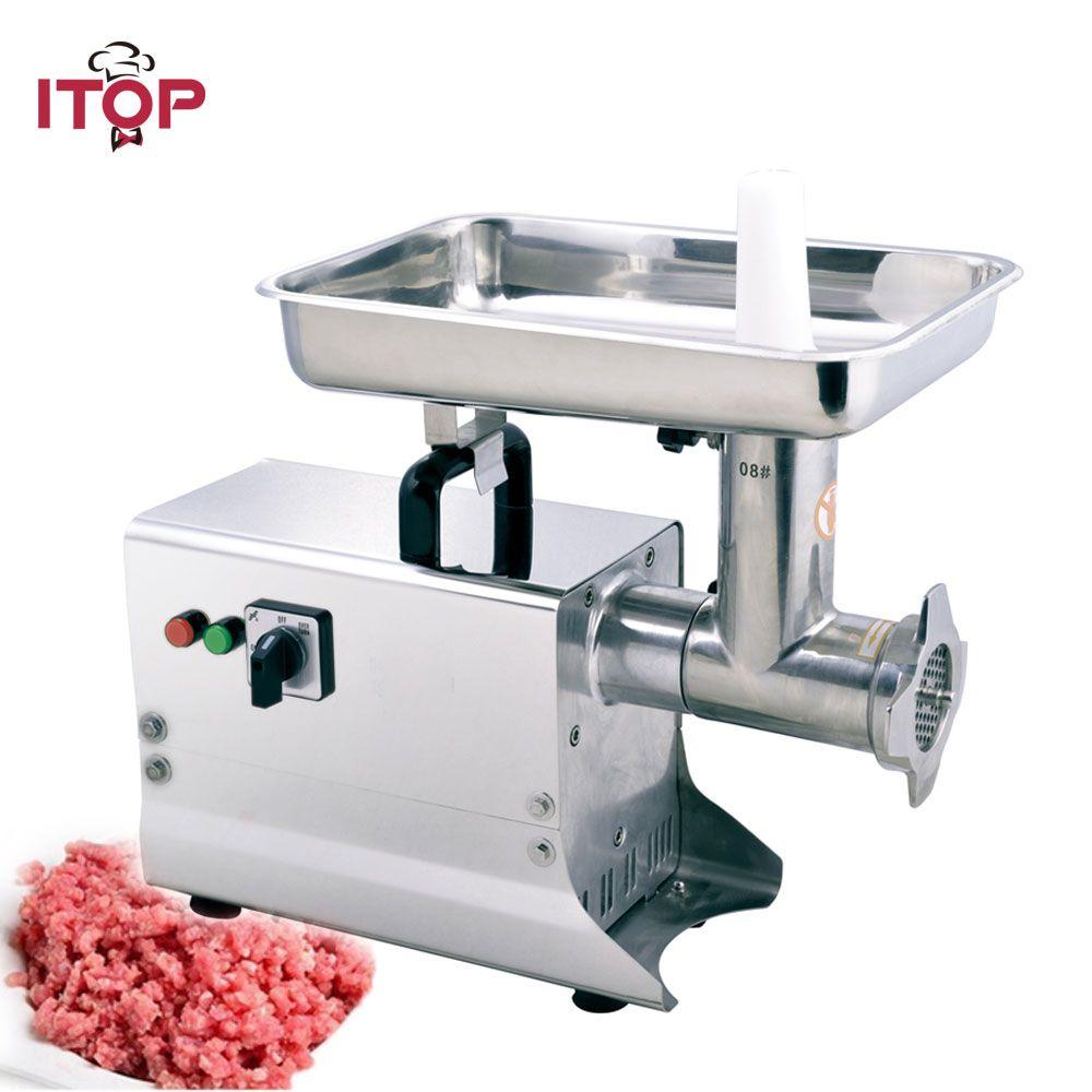 ITOP 80kgs/h Elektrische Fleischwolf Kommerziellen Edelstahl Fleischwolf Heavy Duty Lebensmittel Chopper Wurst Füllung Maschine