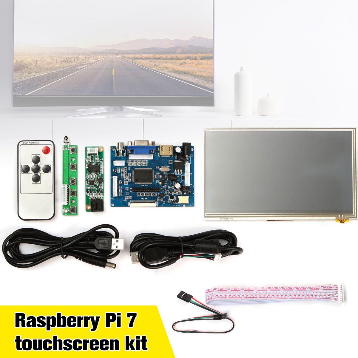 Neue 1 satz Raspberry Pi 7 zoll Raspberry Pi LCD Touch Screen Display HDMI HD 1024x600 Touch LCD fahrer Board mit USB Kabel Linie