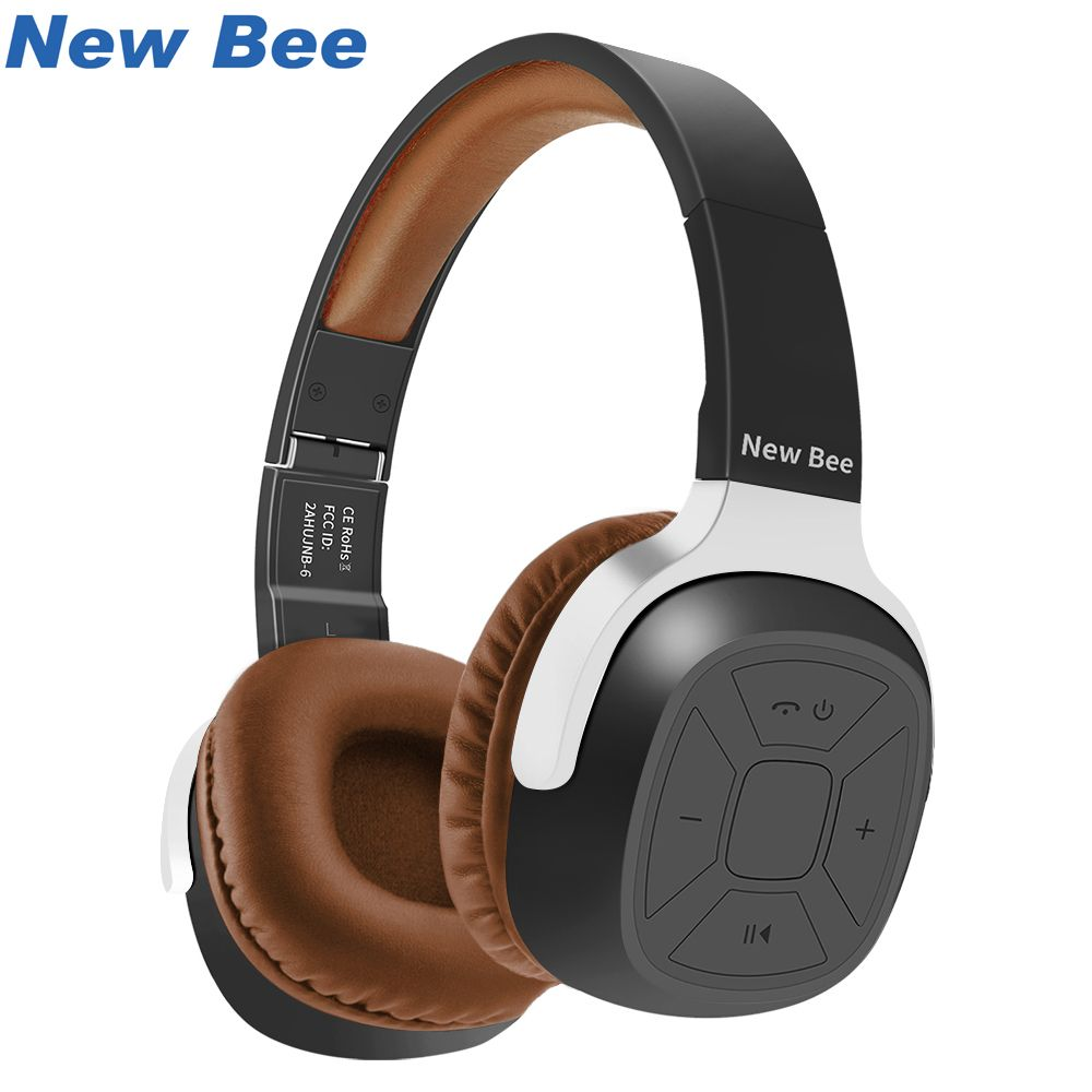 New Bee Wireless Bluetooth Headphones with Mic NFC Sport Bluetooth Headset with App Stereo <font><b>Earphone</b></font> for Phone Computer TV
