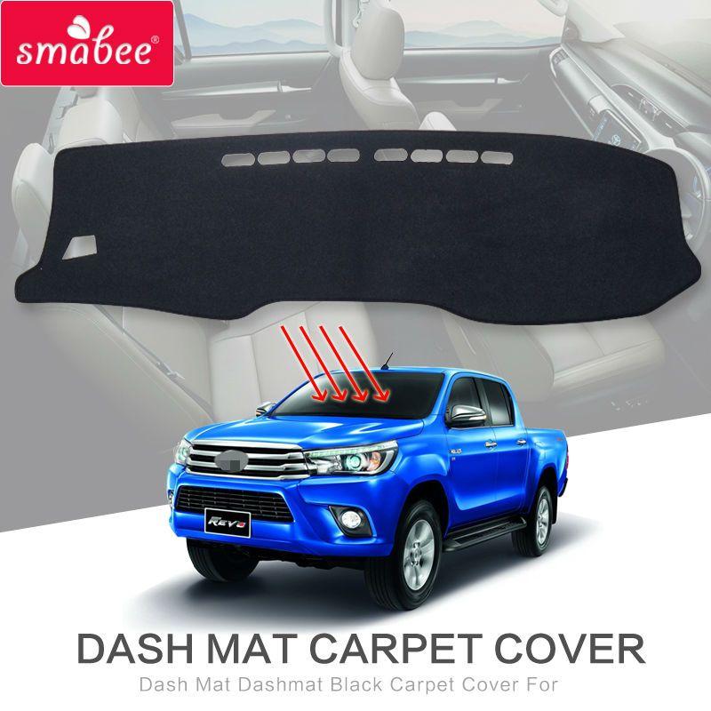 Dash Mat Dashmat Black Carpet Cover For Toyota Hilux SR5 4x4 Hilux REVO Hi-Rider Manual 2015-2017  NON SLIP  Automotive interior