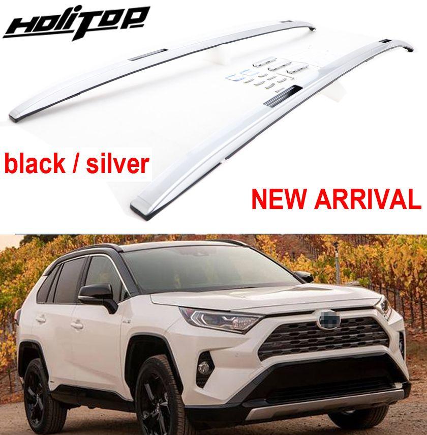 Neue ankunft dach bar dachreling dach rack für Toyota RAV4 2019, schwarz & splitter. verdicken 7075 aluminium legierung, kein rost & geändert farbe
