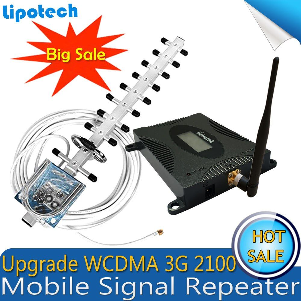 Lintratek Set Gain 70dB (LTE Band 1) 2100 UMTS Mobile <font><b>Signal</b></font> Booster 3G (HSPA) WCDMA 2100MHz 3G UMTS Cellular Repeater Amplifier