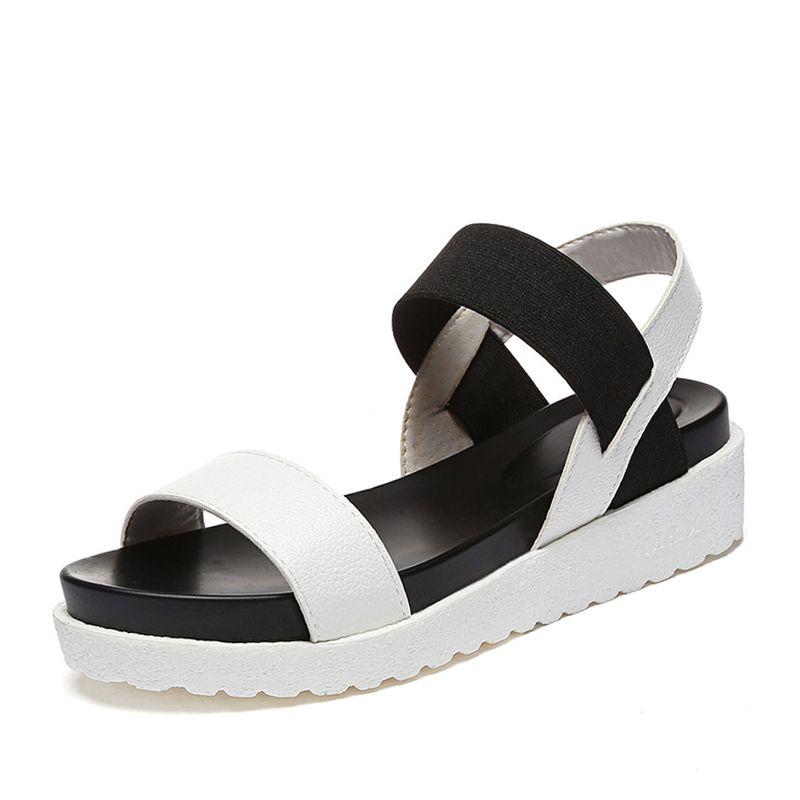 ZHENZHOU léopard sandales d'été léopard grain sandales femmes sandales chaussures femme peep-toe chaussures plates sandales romaines femmes sandales