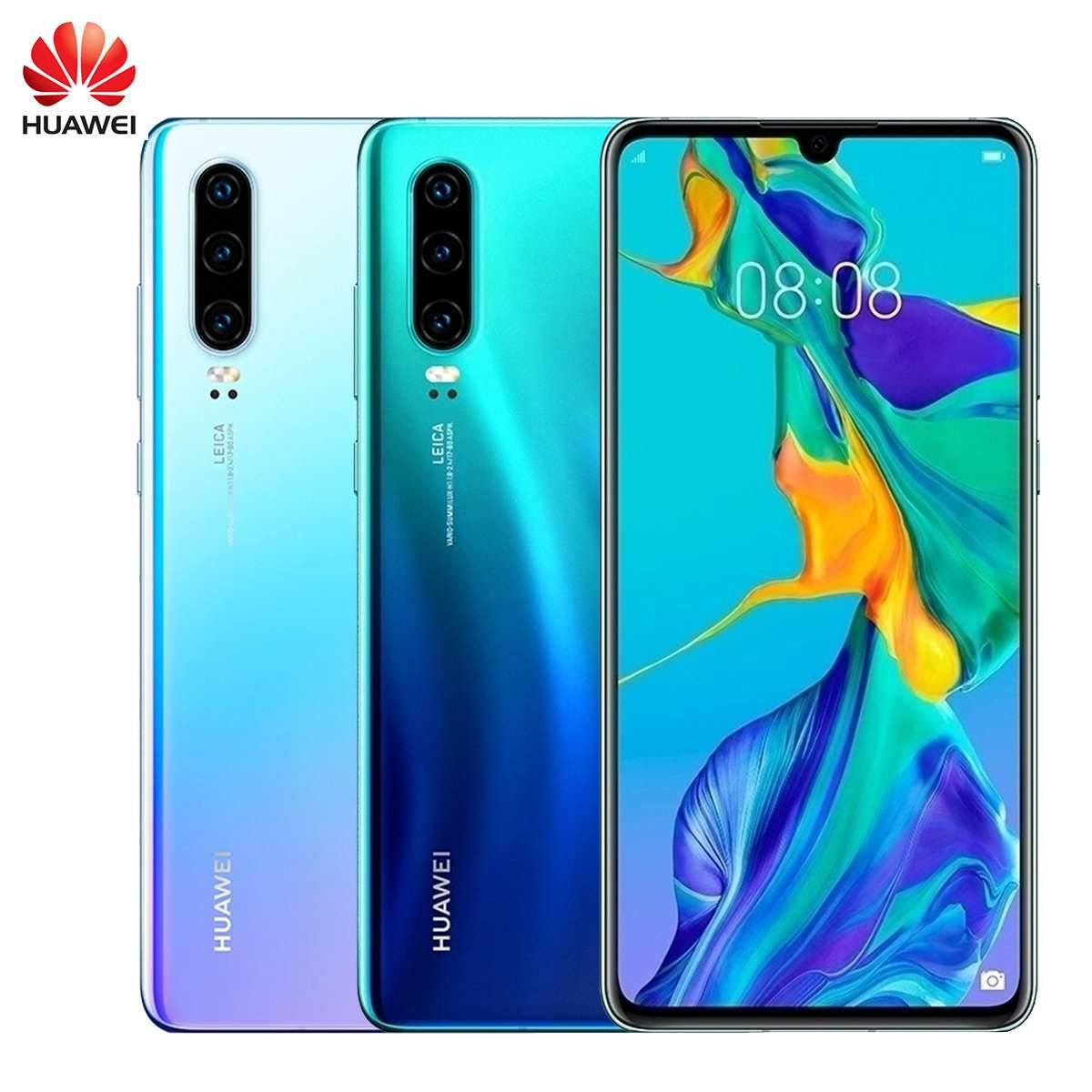 Original HUAWEI P30 128GB + 8GB Smartphone 6,1 zoll Kirin 980 Octa Core Handy Android 9.0 Dual SIM karte 3650mAh 4 Kameras