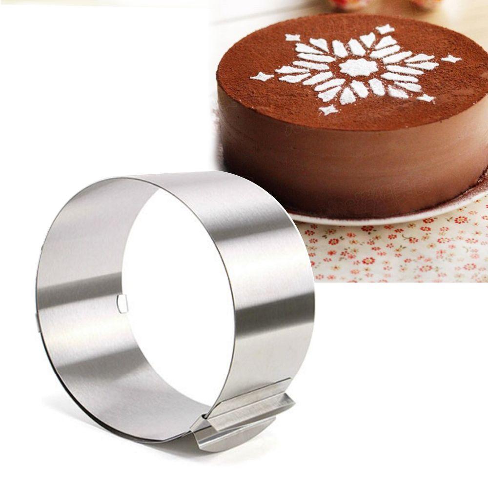 Anneau réglable de Mousse de cercle d'acier inoxydable, 6-12 pouces, outil de cuisson pour le gâteau d'anniversaire, partie