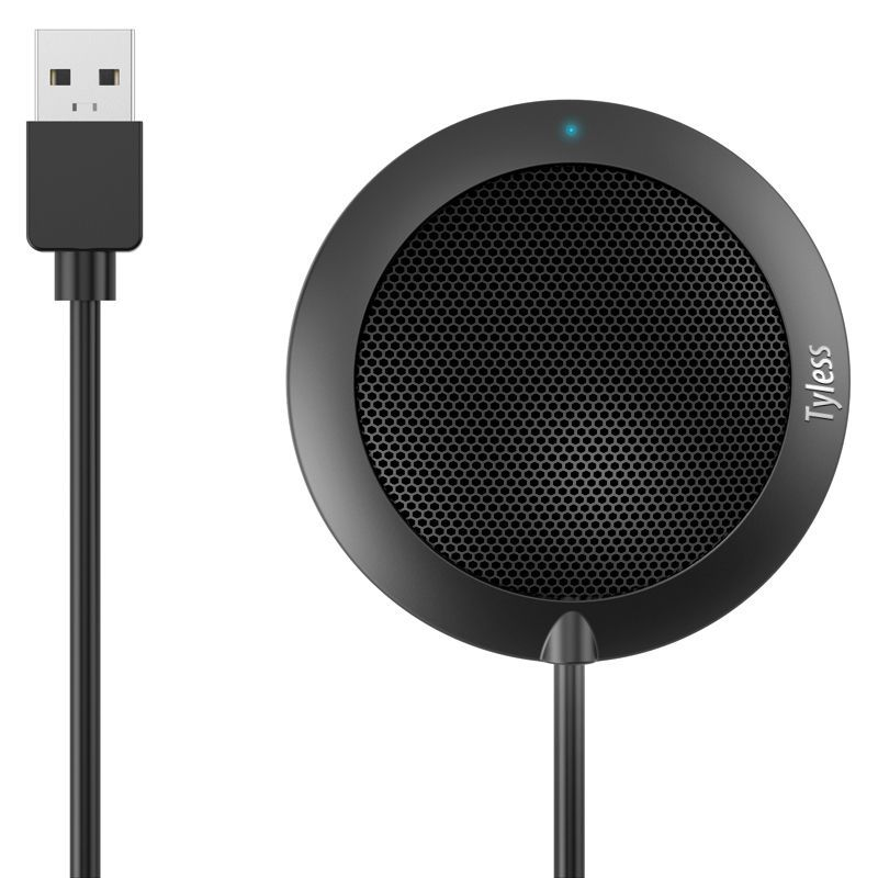 Tyless USB Plug computer tabletop Omnidirectional Condenser Boundary Conference microphone for Recording,Gaming,Skype, VoIP Call