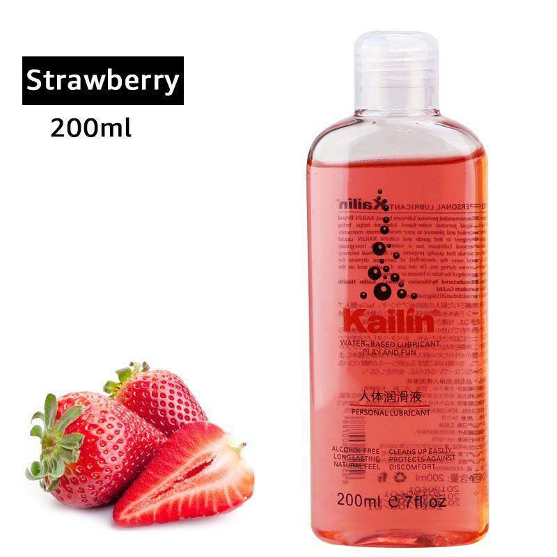 Saveur de fruits graisse anale pour sexe lubrifiant gel lubrifiant vagin lubrification 400ml 200ml goût de fruits huile à base d'eau lubrifiante sexuelle