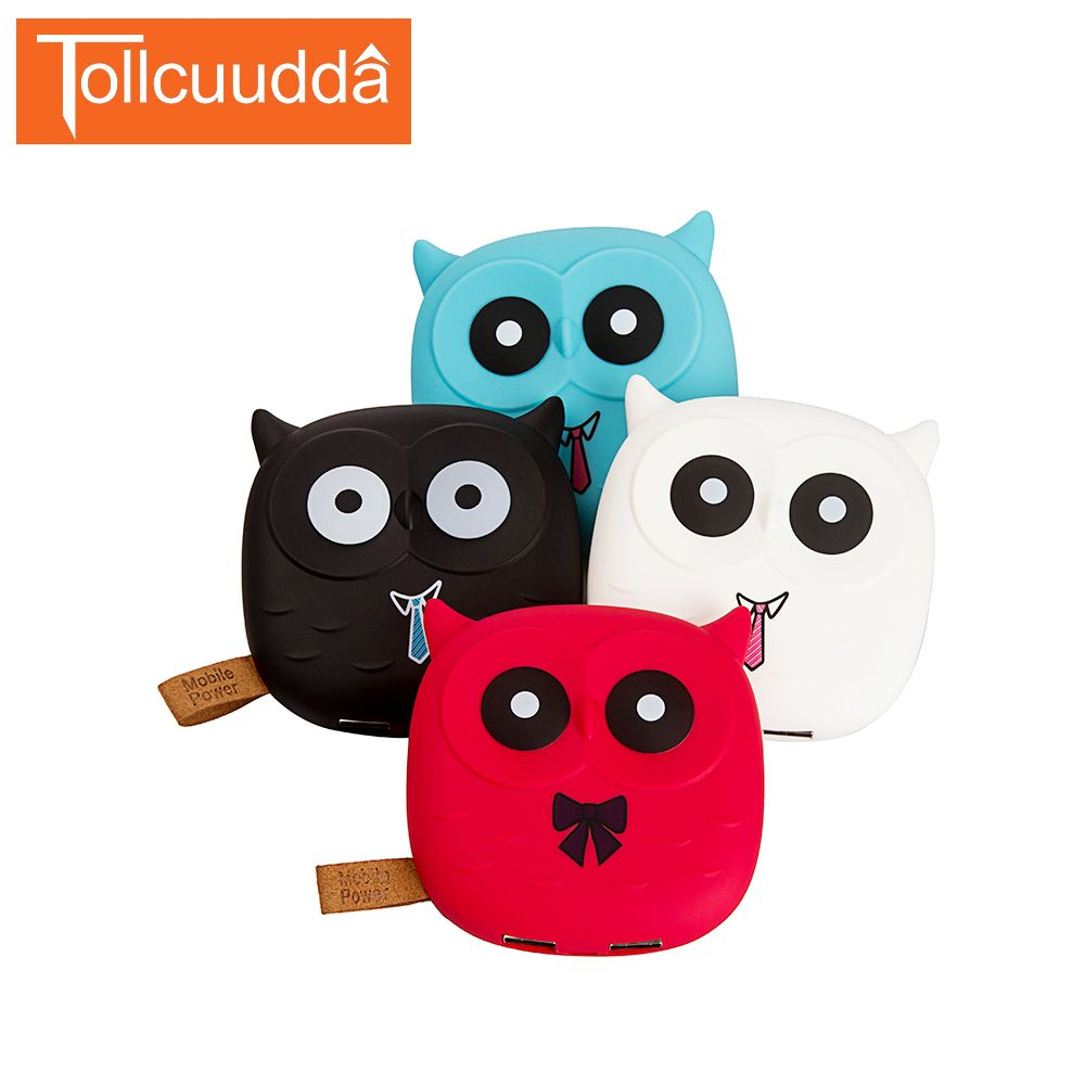 18650 Cute Cartoon Owl Power Bank Portable Charger Battery For Iphone Mobile Cell Phone Xiaomi Small Battery Charger Powerbank
