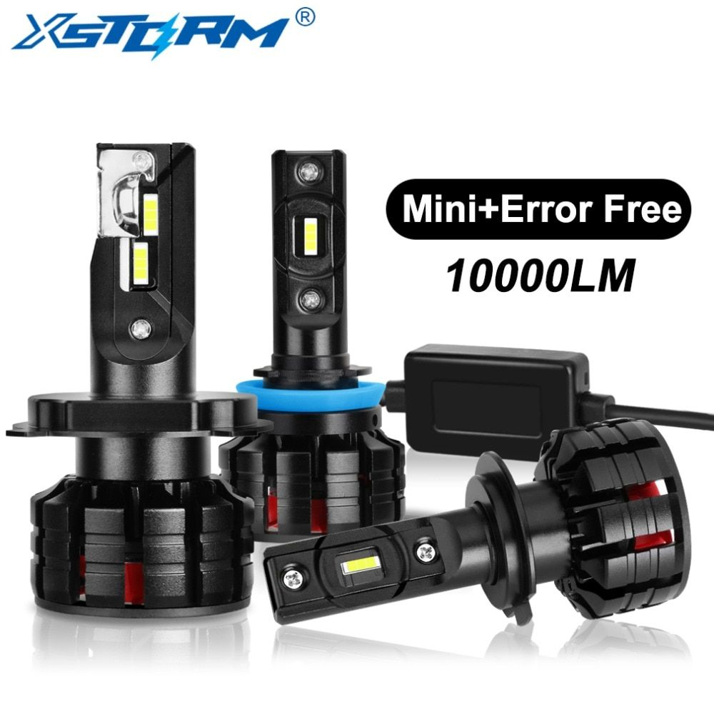 2Pcs H1 H3 H4 H7 Led Canbus H8 H11 HB3 9005 HB4 9006 Led Headlights Mini 100W 10000LM Car Light Bulbs Automobiles Auto Lamp