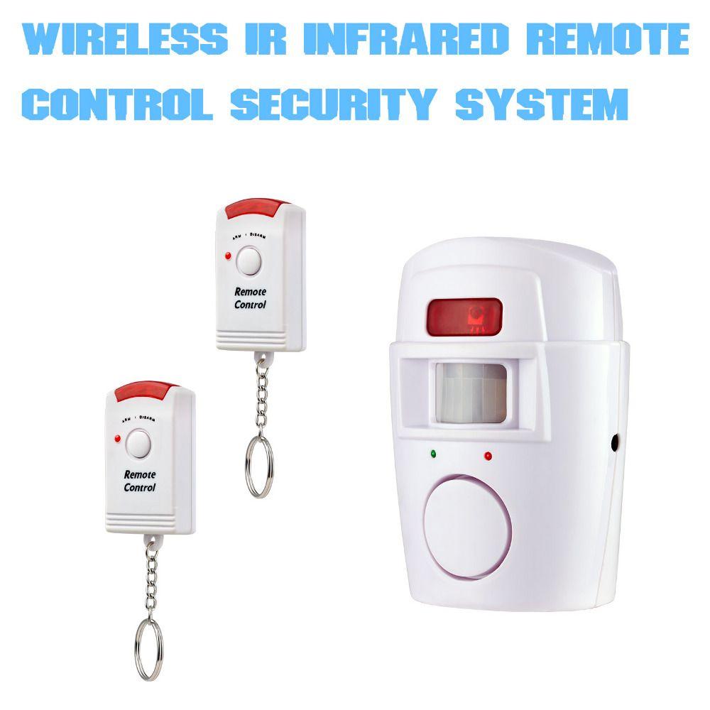 Système D'alarme De Sécurité à domicile Sans Fil PIR Capteur De Mouvement Infrarouge Détecteur Avec 2 pièces Télécommandes Porte Fenêtre Anti-Vol