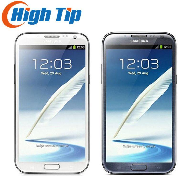 D'origine samsung Galaxy Note II 2 N7100 UE version Rénové N7105 8.0MP caméra GPS Android 4.1 téléphone WIFI Livraison gratuite