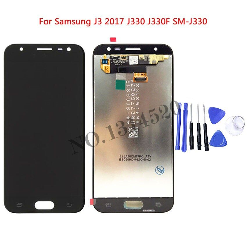 High Quality LCD For Samsung Galaxy J3 2017 J330 J330F SM-J330 LCDs Display Touch Digitizer Screen With Tools
