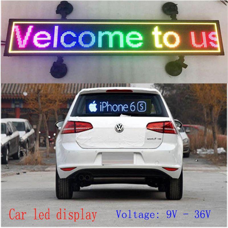Крытый программируемый изображения светодиодный дисплей автомобиля RGB полноцветная светодиодная вывеска бегущая строка поддержки светод...