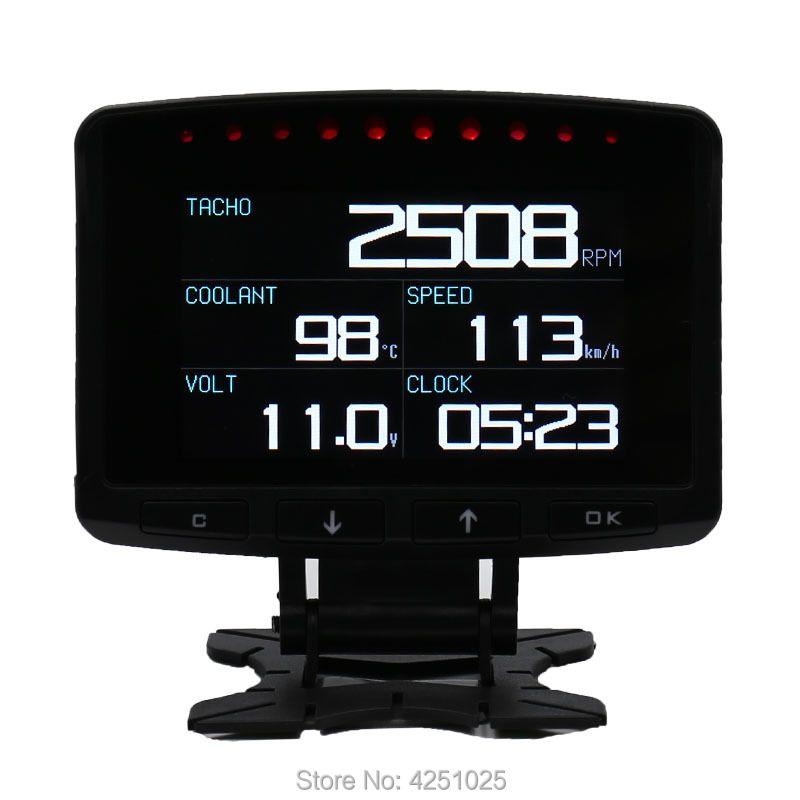 CXAT A208 Multi Functional Smart Car OBD HUD Digital Meter Speedometer Fuel Consumption Gauge Fault Code Alarm Display