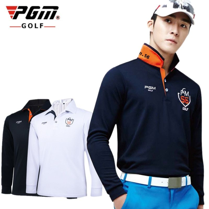 Breathable Mens Outdoor Fit Polo Mens Golf Shirts Quick Dry Long Sleeve T-shirts Clothing Table Tennis Shirt Polyester 4 Sizes