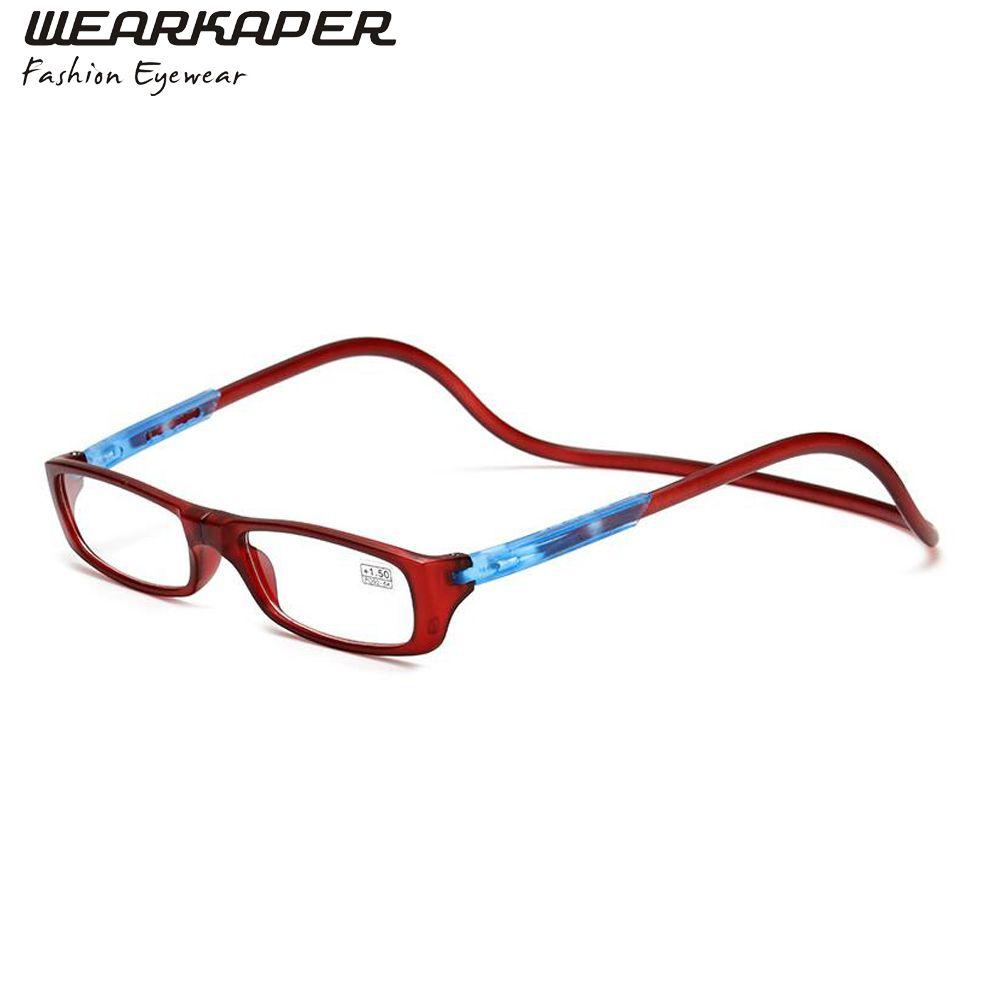 Wearkaper складной регулируемый Очки для чтения для женщин Для мужчин Для женщин магниты спереди подключения глаз Очки oculos-де-грау 1.0 1.5 2.0 2.5 3.0 3.5 ...