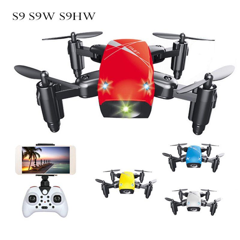 S9 S9W S9HW pliable Drone RC Mini Drone Micro poche Drone hélicoptère RC quadrirotor avec caméra HD maintien d'altitude Wifi FPV Dron