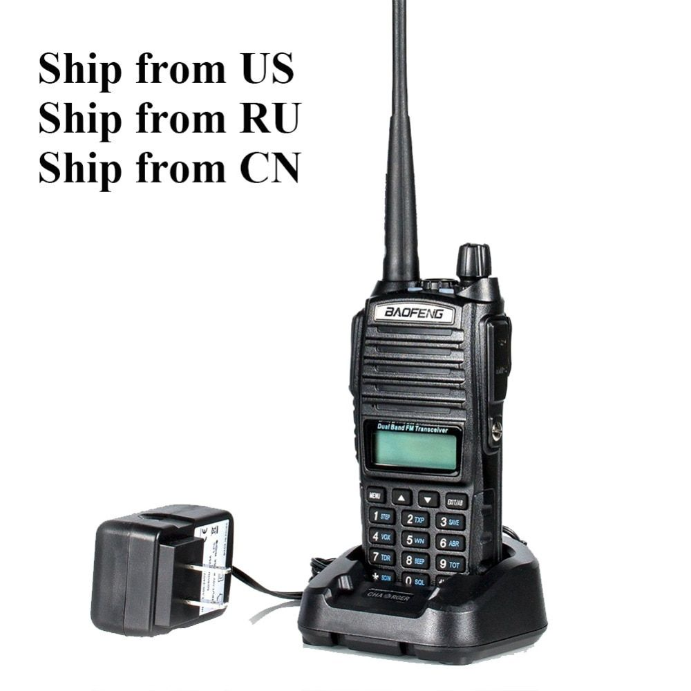 Ships from RU/US/CN! Black BaoFeng UV-82 <font><b>Walkie</b></font> Talkie 5W 10km 136-174MHz & 400-520MHz Two Way Radio Baofeng uv82 Ham Radio