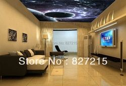 u-2176 amazing cosmic explosion printing ceiling film with fluorescent light for living room decoration