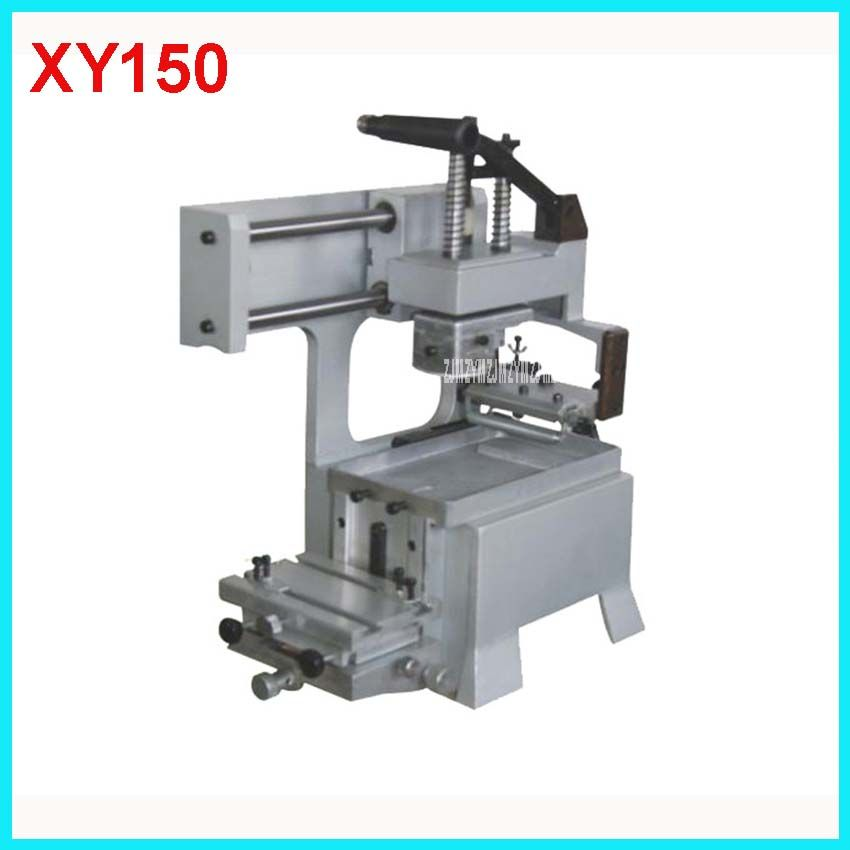 XY150 Manual Pad Printing Machine rubber pads and custom plate die Combo 3 in 1 printing area 80 * 80mm Manual Pad Printing