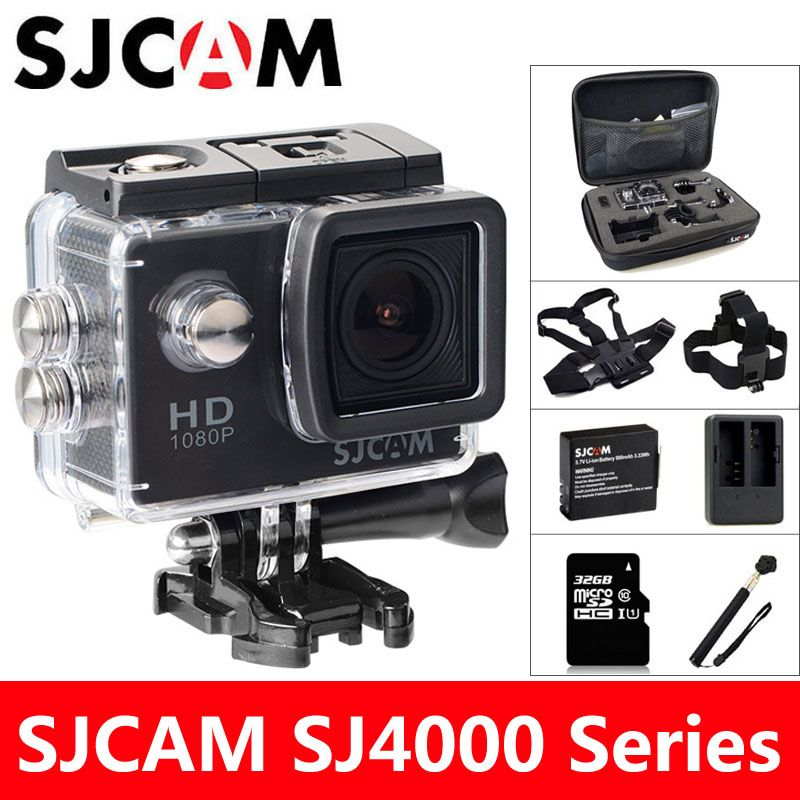 SJCAM SJ4000 <font><b>Action</b></font> Camera Sports DV 2.0 inch Diving 30M Waterproof HD 1080P Extreme Helmet mini Camcorder Original SJ 4000 Cam