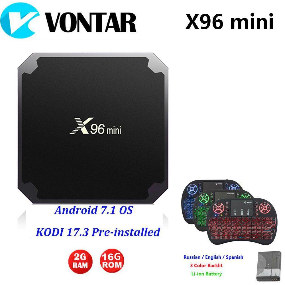 2GB16GB X96mini Android 7.1 TV BOX 1G8G X96 mini Amlogic S905W TV BOX Quad Core 4K 2.4GHz WiFi X96mini +IR CABLE+ Magic Tape