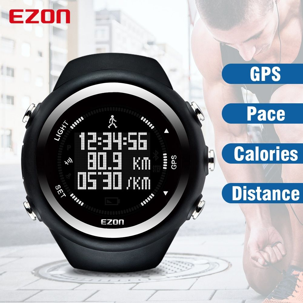 EZON T031 GPS Running Sport Watch Distance Speed Calories Monitor GPS Timing Men Sports Watch 50M Waterproof Digital Watch