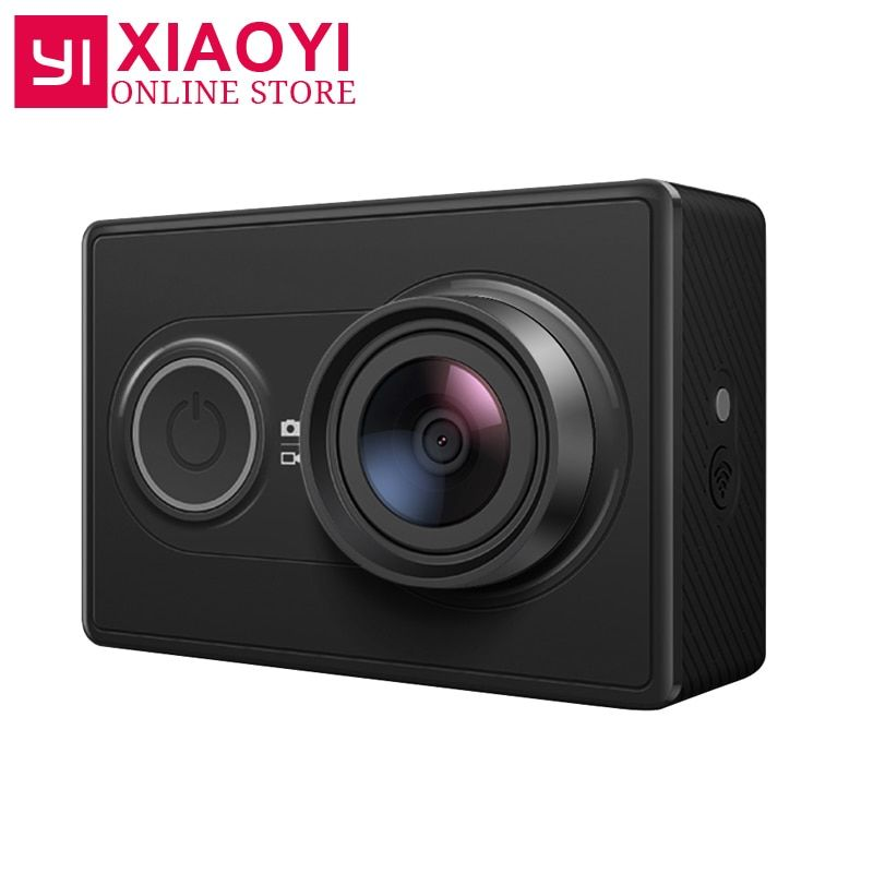 <font><b>[International</b></font> Edition]Original Xiaomi YI Sports Camera Xiaoyi WiFi 3D Noise Reduction 16MP 60FPS Ambarella Action Camera