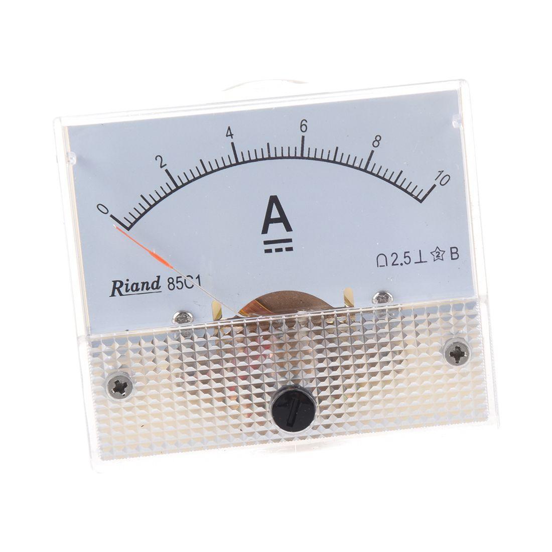 85C1 DC 0-10A Rectangle Analog Panel Ammeter Gauge
