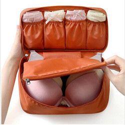 Sujetador Ropa interior ropa interior bolsa de viaje para las mujeres organizador viaje bolso de equipaje bolsa de viaje bolsa maleta bolsa de ahorro de espacio