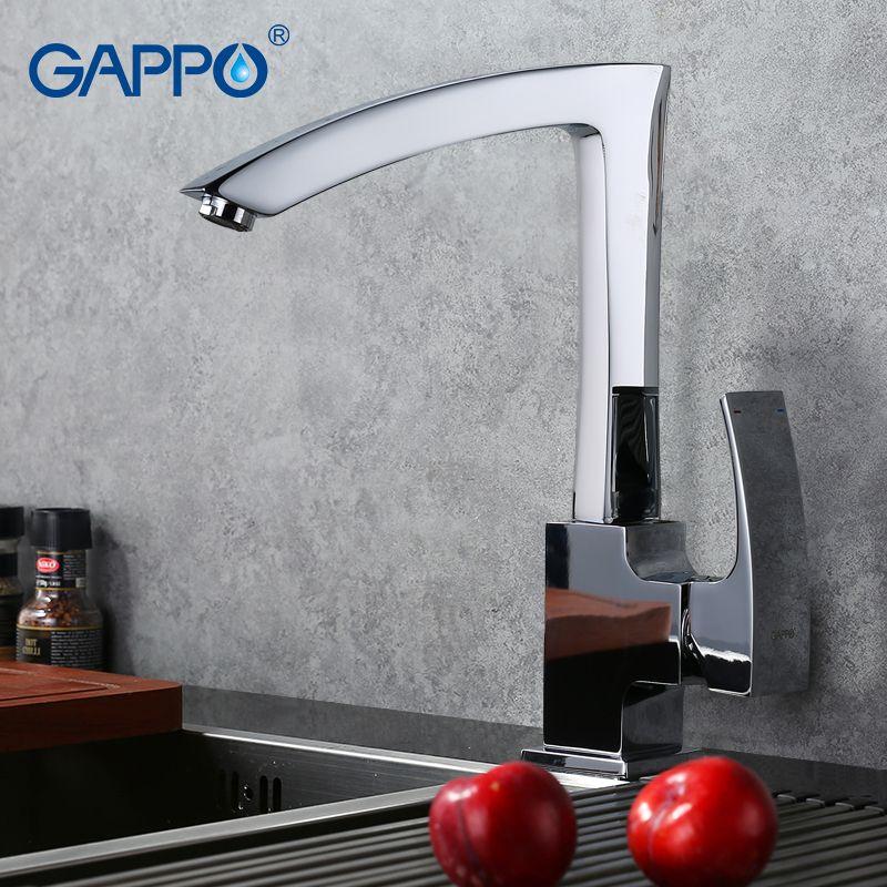 GAPPO Neue Ankunft Messing Festen Küchenarmatur Brief Sieben Design Einhand Kalter und Warmwassermischer GA4007