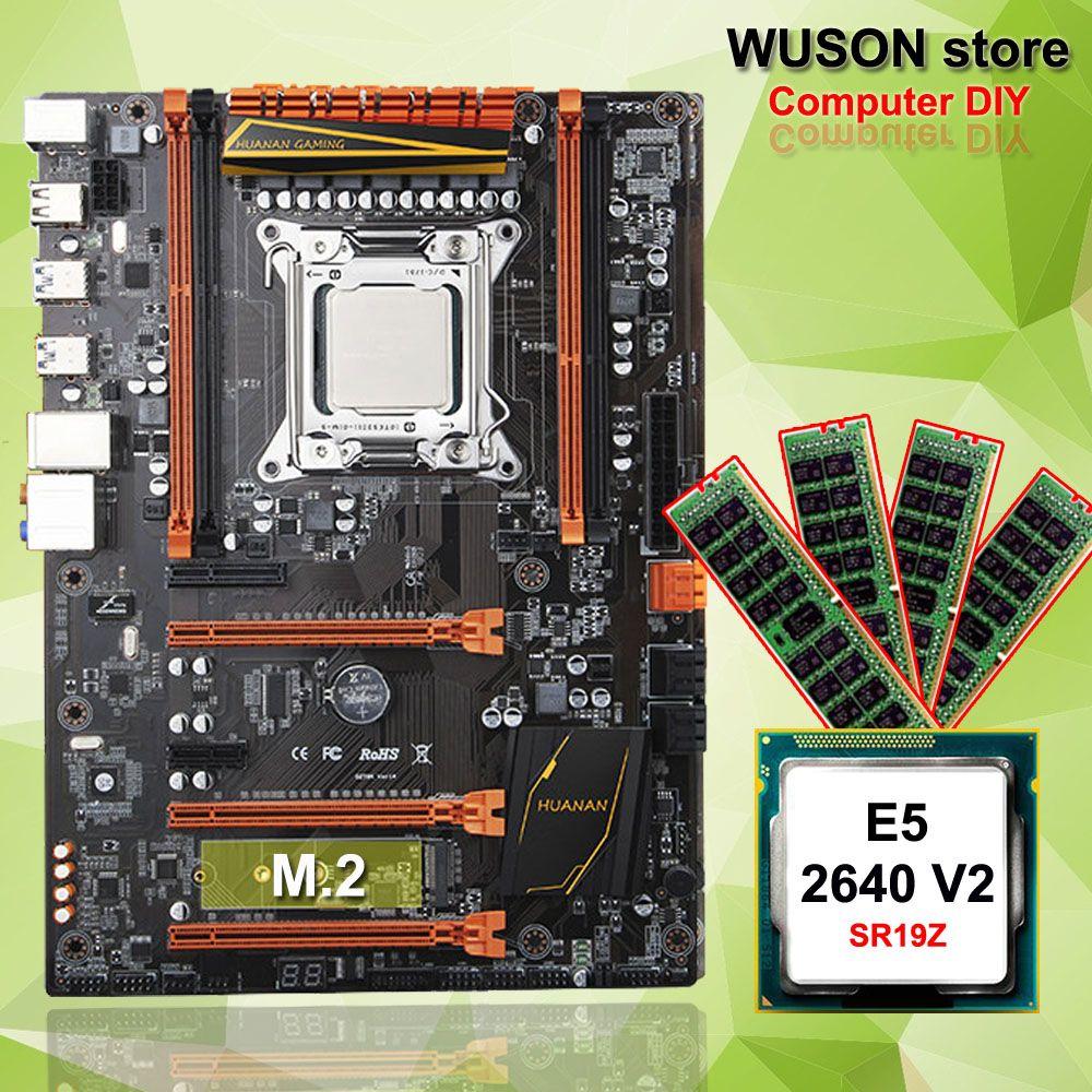 Hot Featured HUANAN ZHI deluxe X79 gaming motherboard computer DIY CPU Intel Xeon E5 2640 V2 SR19Z memory 16G(4*4G) DDR3 REG ECC