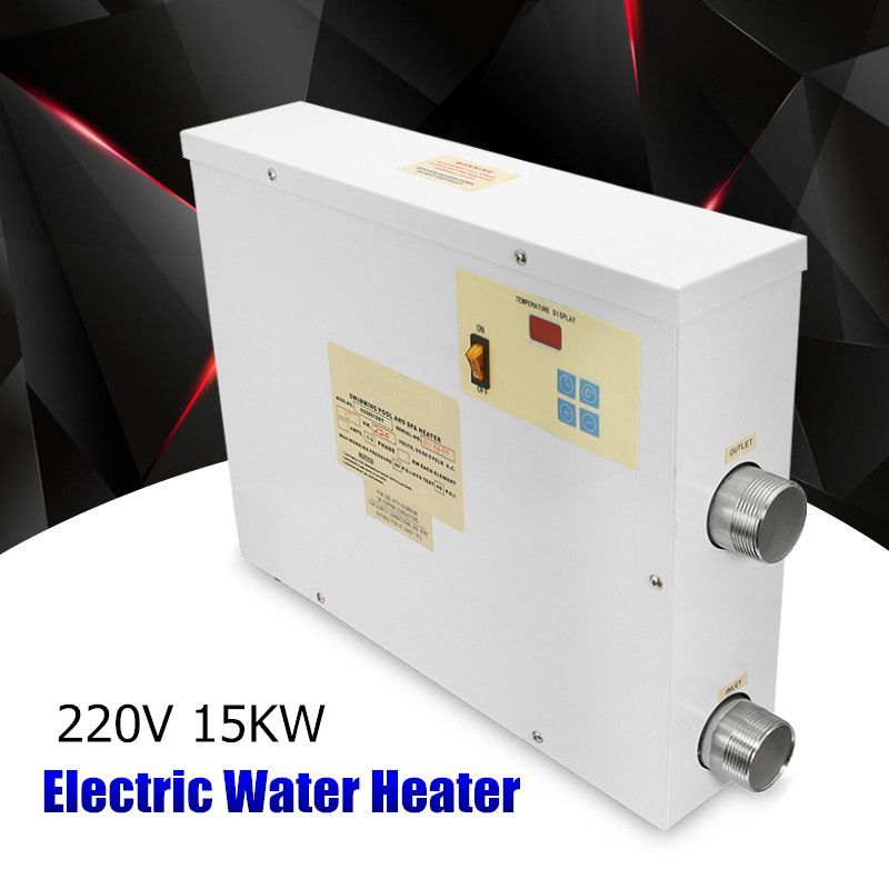 Water Sports 15KW 220V Electric Swimming Pool and SPA Bath Heating Tub Water Heater Thermostat 220V Swimming Pool Accessories