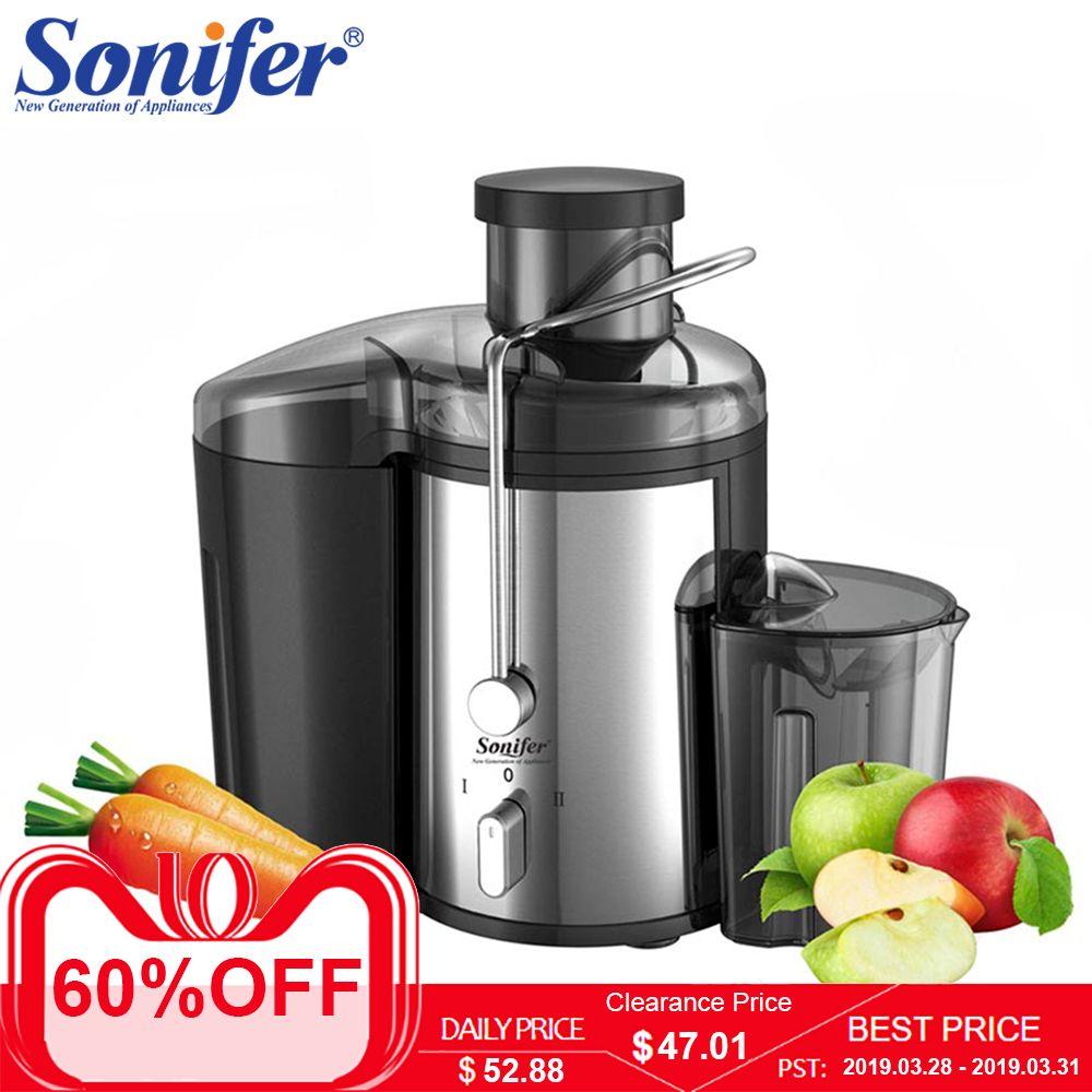 220 V acier inoxydable Centrifugeuses 2 Vitesse électrique extracteur de jus de Fruits Potable Machine Pour La Maison Sonifer