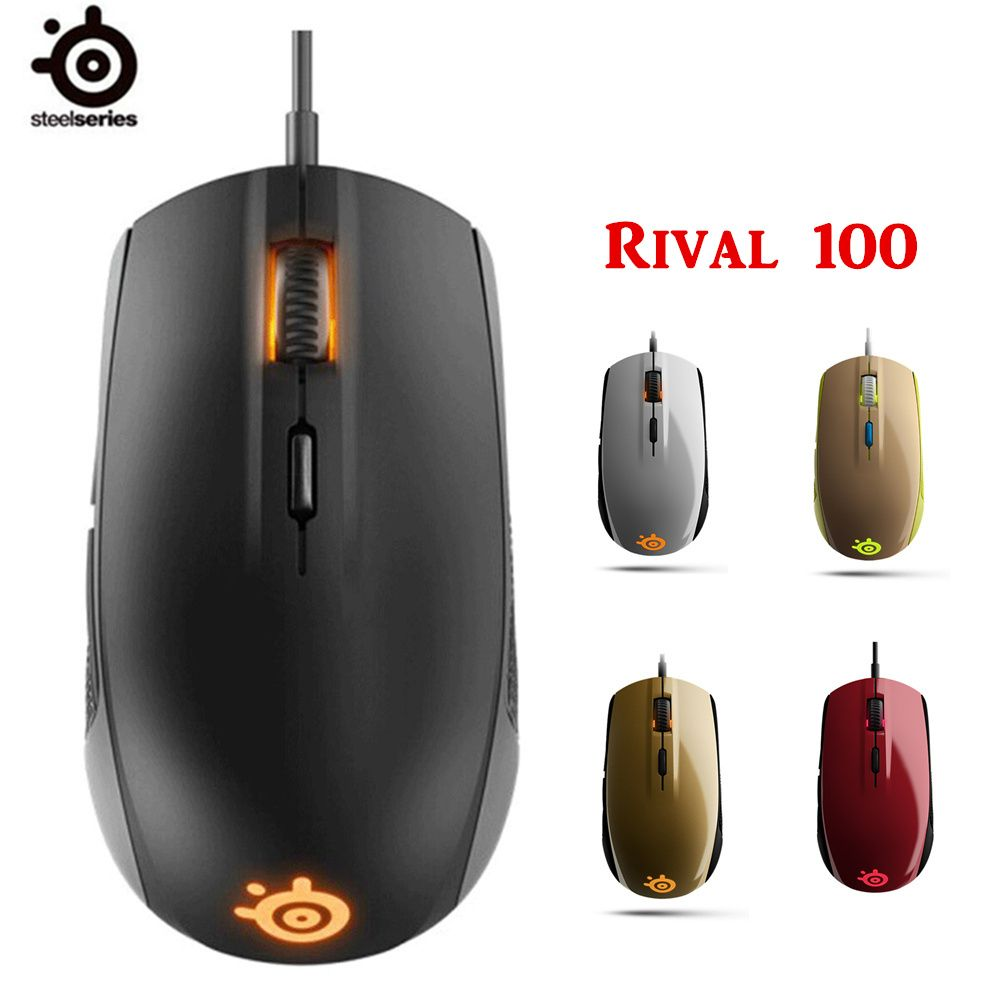 100% Original NEW SteelSeries Rival 100 Gaming Mouse Mice USB Wired Optical 4000DP With original package